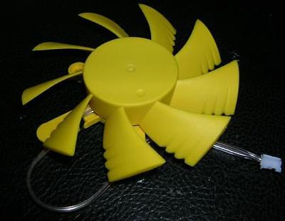 2 Pin 12v 7.5cm 75mm 3 Hole Yellow VGA Video Graphics Card Cooler Cooling Fan