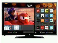 "Bush 40"" LED Smart WiFi tv built-in HAD free view USB player full HD."