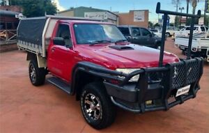 2010 Nissan Patrol GU MY08 ST (4x4) Red 5 Speed Manual Coil Cab Chassis Richmond Hawkesbury Area Preview