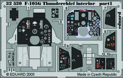 Eduard Accessories 32520 - 1:32 F-105G Thunderchief Interior Für Trumpeter Bausa