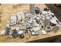 Box of mixed NEW electrical fittings