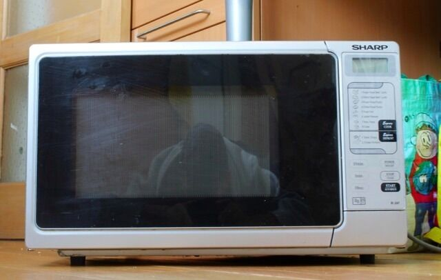 Sharp R 247 Silver And Black 800w Cat E Microwave Oven