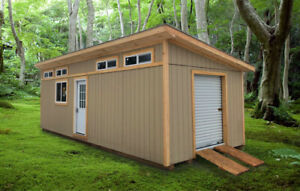 Lean Roof Style Storage and Workshop 12x32