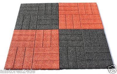 6x Fallschutzmatten rot Spielplatz Boden Klettergerüst  Schaukel Spielturm 50x50