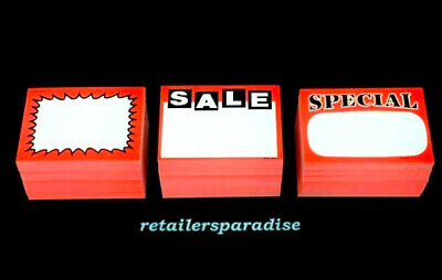 Wait Best Deal 150 Assorted Retail Store Price Signs Lot Special Sale Burst