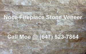 Noce Fireplace Stone Veneer Brown Fireplace Wall Cladding