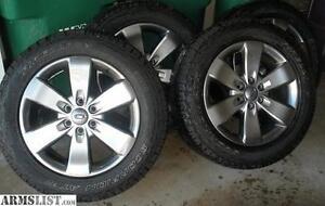 2014 FX4 6x135 B.P. rims with Bridgestone dueler HL alenza tires