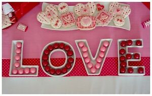 LOVE Letter Dishes for Wedding/Lolly Buffet/Engagement/Party/Table Decorations