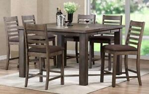 7 piece Counter Height Table - Rio Grey Finish