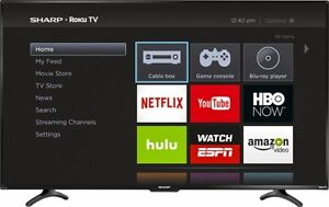 "BRAND NEW IN BOX Sharp - 55"" LED Smart ROKU"