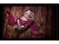 Newborn photography high quality floor drop vintage wooden 5ft x 5ft from click props