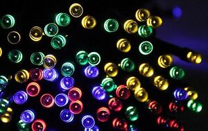 10 meters of colored SOLAR lights