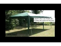 CANOPY 6 x 3 GREEN GREAT TO COVER CARS CARAVANS GARDEN FURNITURE ETC