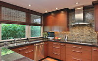 Modern Kitchen Cabinetry - Copper Reed Veneer