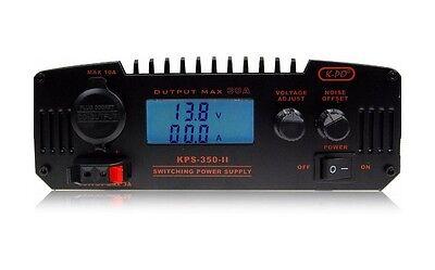 CB HAM RADIO POWER SUPPLY LCD KPO KPS-350-II 30AMP 9-15V/ 13.8V