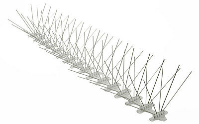 Bird Spikes Stainless Steel 50 ft x 8 in Bird Repeller Spikes Bird Control Spike