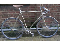 Vintage Single speed bike MERCIER frame 23inch - SAN MARCO saddle !! with NEW TYRES - welcome