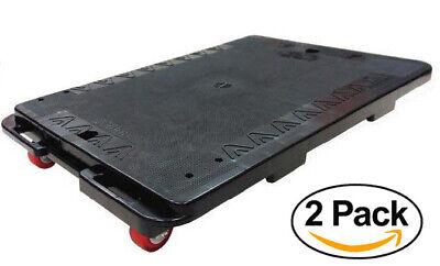 Heavy Duty 440lb Interlocking Moving Dolly Plastic Platform Utility Cart 2 Pack