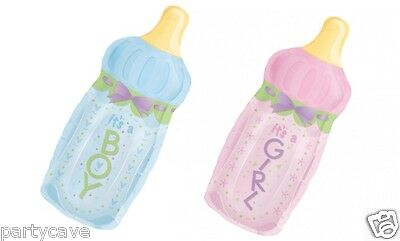 BABY SHOWER PARTY BOTTLE IT'S BOY GIRL SUPERSHAPE HELIUM FOIL BALLOON DECORATION - Helium Bottle