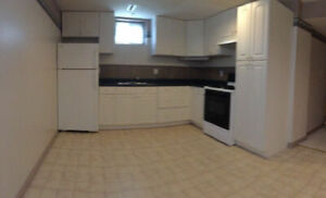 Large 1 bedroom + full bathroom basement suite w/ private access