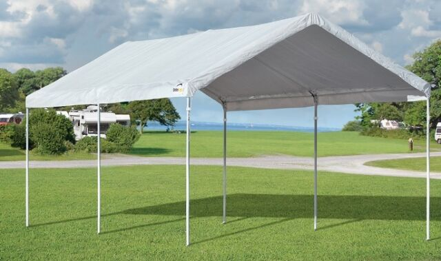 10x20 ShelterLogic Accelaframe Canopy Carport Portable Garage Party Tent 25949 & ShelterLogic Canopy Tent Outdoor Sun Protector Shade Shelter 10 X ...