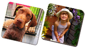 Personalised Coaster - Set of 4 -  Image Photo Logo Text Mug - Square 90 x 90 mm