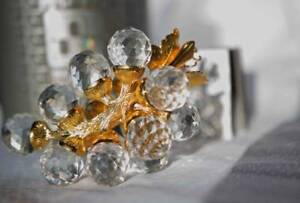 Swarovski Silver Crystal Grapes - Retired
