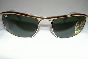 RAY BAN Sunglasses PREDATOR OLYMPIAN  Gold Frame  RB 3119 001  G-15  Lenses 59mm