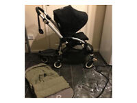 bugaboo bee plus pram pushchair buggy board black stroller buggy