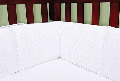 Trend Lab White Pique Crib Bumpers PQ-BP New