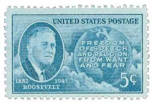 1946 Franklin D Roosevelt Memorial First Day Air Mail Cover Kitchener / Waterloo Kitchener Area image 2