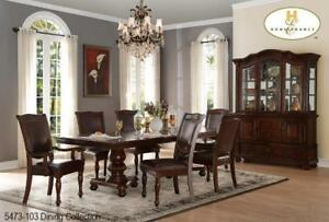 Solid Wood Brown 7 PC Dining Set (MA767)