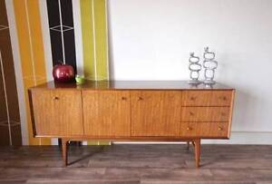 Danish 1960's Retro Teak Sideboard Cabinet Buffet, Can Deliver Hurlstone Park Canterbury Area Preview