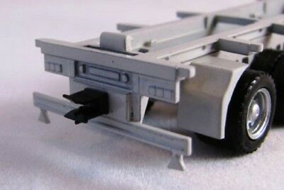 ROAD TRAIN Tow hitch set trailer hooks ring feeder 5th wheel HO 1/87 scale HERPA