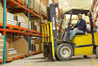Forklift JOBS $14-$18/hr + Training + Photo Licence