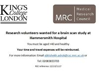 Participants needed for Brain Scan Research