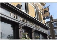 Front of House Staff needed for the Bull and Last from £10 per hour - North London