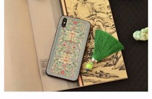 Beautiful Anaglyph Peony Cloisonne design,   iPhone X case