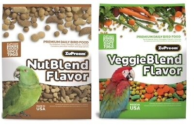 ZuPreem Veggie Nut Blend Avian diet bird parrot food Nutblend 2x 3.25lb