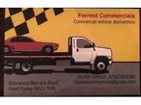 Forrest commercials vehicle dismantlers