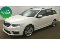 £263.20 PER MONTH WHITE 2013 SKODA OCTAVIA 2.0 CR VRS ESTATE DIESEL MANUAL