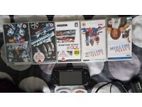 Psp with 2 games and 4 movies