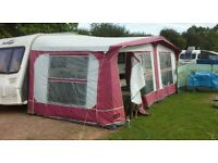 Pyramid caravan awning for sale, used once, very good condition