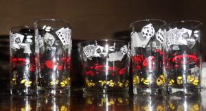 Poker Glasses and Ice Bucket
