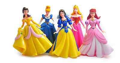 Disney Princess Set (Large Disney Princess Cinderella Ariel Playset 5 Figure Cake Topper Toy Doll)