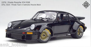 Exoto 1/18 1976 Porsche 934 RSR Client Private Team Authentic Black RLG18091