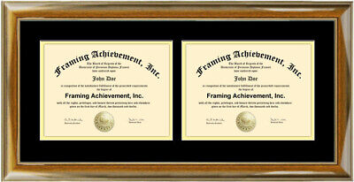 College Diploma Frame (Framing Two Certificate Frame Dual Diploma Degree College University)