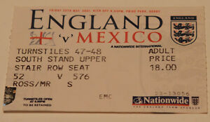 OLD TICKET friendly England - Mexico in Derby - <span itemprop='availableAtOrFrom'>Poznan, Polska</span> - OLD TICKET friendly England - Mexico in Derby - Poznan, Polska