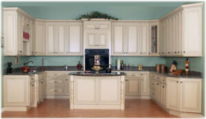 Solid Maple Cabinets 50% OFF+Granite*Quartz Countertop from $45