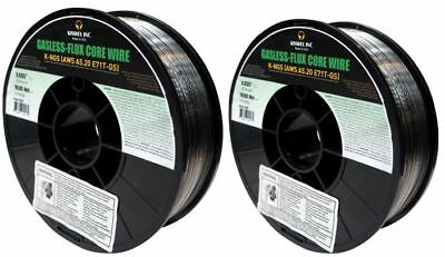 2 Rolls K-ngs E71t-gs .035 In. Dia 10lb. Gasless-flux Core Wire Welding Wire